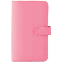 DEBDEN SLIMLINE DAYPLANNER PU SNAP CLOSURE WEEK TO VIEW 162 X 82MM PINK