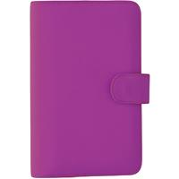DEBDEN SLIMLINE DAYPLANNER PU SNAP CLOSURE WEEK TO VIEW 162 X 82MM PURPLE
