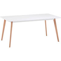 DAL ACTI RECTANGLE TABLE 1600 X 900MM OAK/WHITE