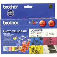 BROTHER LC57PVP INKJET CARTRIDGE PHOTO VALUE PACK