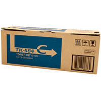 KYOCERA TK584C TONER CARTRIDGE CYAN