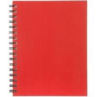 SPIRAX 511 NOTEBOOK SPIRAL BOUND HARD COVER 200 PAGE 225 X 175MM RED
