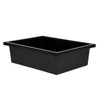 ELIZABETH RICHARDS PLASTIC TOTE TRAY BLACK