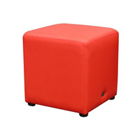 DURASEAT OTTOMAN CUBE RED