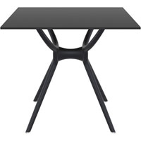 SIESTA AIR TABLE 800 X 800MM BLACK