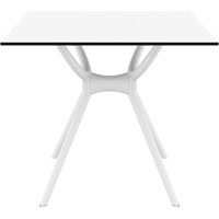 SIESTA AIR TABLE 800 X 800MM WHITE