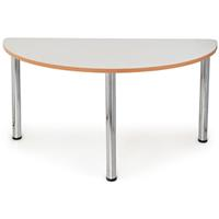 QUORUM GEOMETRY MEETING TABLE HALF ROUND 1500MM