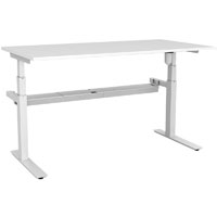 RAPIDLINE PARAMOUNT SINGLE OPEN ELECTRIC HEIGHT ADJUSTABLE WORKSTATION 1800 X 750 X 607MM WHITE