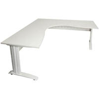 RAPID SPAN CORNER WORKSTATION METAL MODESTY PANEL 1800 X 1200 X 700MM WHITE/WHITE