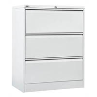 GO LATERAL FILING CABINET 3 DRAWER 1016 X 900 X 473MM WHITE CHINA