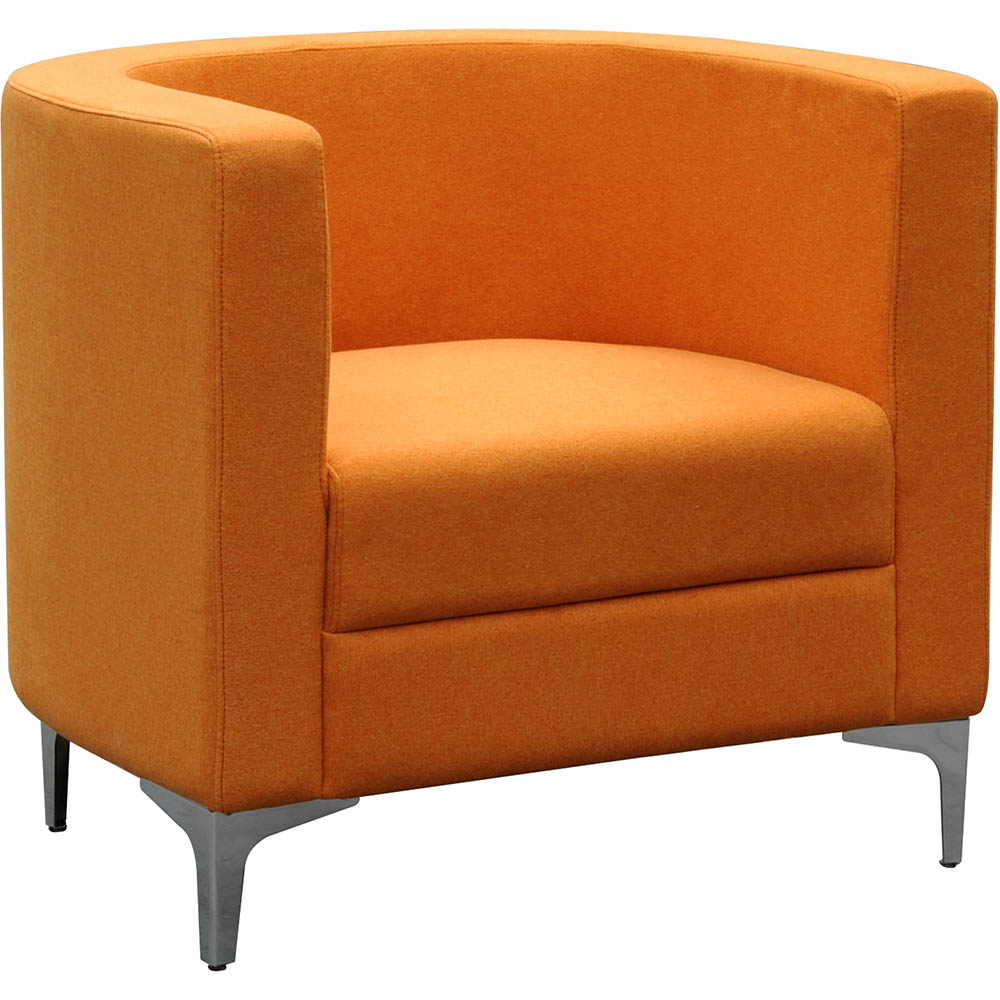 Miko Single Seater Sofa Chair Orange Second Office