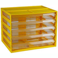 ITALPLAST DOCUMENT CABINET 5 DRAWER A4 BANANA