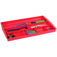 ITALPLAST DRAWER TIDY 8 COMPARTMENT WATERMELON