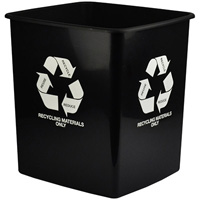 ITALPLAST TIDY BIN RECYCLE ONLY 15 LITRE BLACK