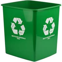 ITALPLAST TIDY BIN RECYCLE ONLY 15 LITRE GREEN