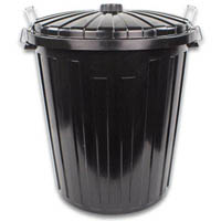 REGAL PLASTIC GARBAGE BIN 73 LITRE BLACK