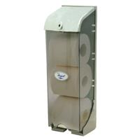 REGAL TRIPLE TOILET ROLL DISPENSER ABS GREY