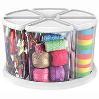 DEFLECTO ROTATING CAROUSEL ORGANISER 6 CONTAINERS