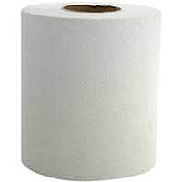 TRU SOFT RECYCLED CENTERFEED TOWEL ROLL 200MM X 300M WHITE PACK 6