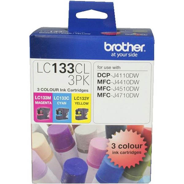 BROTHER LC133CL3PK INK CARTRIDGE VALUE PACK CYAN/MAGENTA