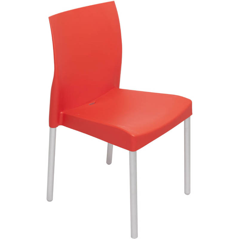 Leo Poly Chair With Aluminium Legs Red Office National