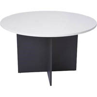 OXLEY ROUND MEETING TABLE 900MM DIAMETER WHITE/IRONSTONE
