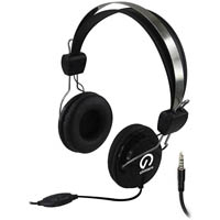 SHINTARO STEREO HEADSET WITH INLINE MICROPHONE BLACK