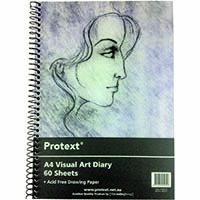 PROTEXT VISUAL ART DIARY WITH PP COVER 110GSM 120 PAGES A4