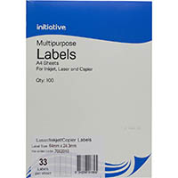 INITIATIVE MULTI-PURPOSE LABELS 33UP 64 X 24.3MM PACK 100