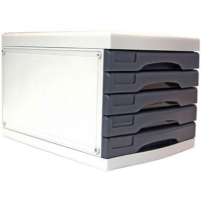 Image For Metro Desktop Filing 5 Drawers A4 Grey From Buzz Solutions