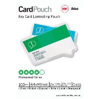 GBC LAMINATING POUCH 175 MICRON 64 X 99MM CLEAR PACK 100