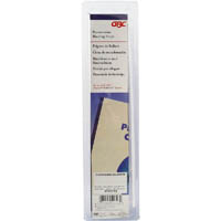 GBC VELOBIND STRIPS 4 PRONG WHITE PACK 25