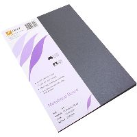 QUILL METALLIQUE BOARD 285GSM A4 ANTHRACITE PACK 25
