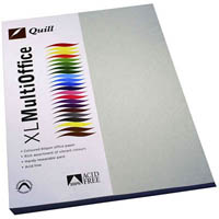 QUILL COLOURED A4 COPY PAPER 80GSM GREY PACK 100 SHEETS