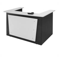 OXLEY RECEPTION COUNTER 1800 X 1160 X 1090MM WHITE/IRONSTONE