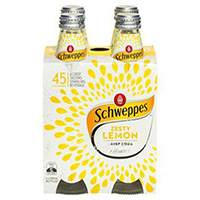 SCHWEPPES LEMON CRISP SODA BOTTLE 300ML CARTON 24