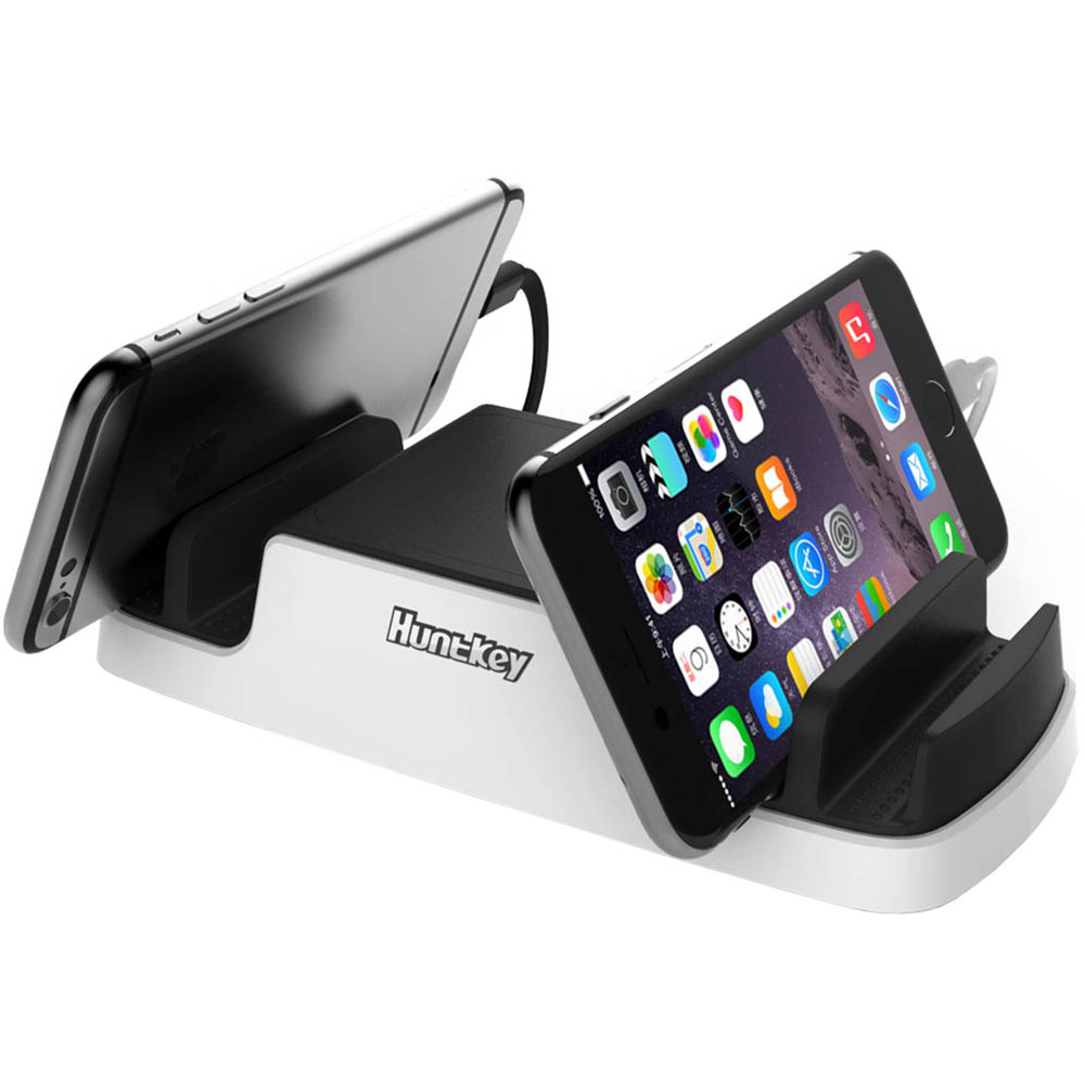 Image for HUNTKEY SMARTU 4-PORT 40W USB CHARGING DOCK BLACK/WHITE from Office Express
