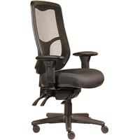 ERGOSELECT SWIFT ERGONOMIC CHAIR HIGH BACK WITH ARMS BLACK