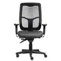 ERGOSELECT SWIFT ERGONOMIC CHAIR HIGH BACK WITH ARMS GREY