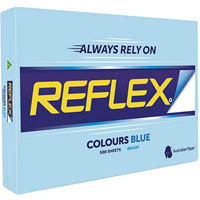 REFLEX COLOURS A3 COPY PAPER 80GSM BLUE PACK 500 SHEETS