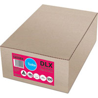 TUDOR DLX ENVELOPES MOIST SEAL 120 X 235MM WHITE BOX 500
