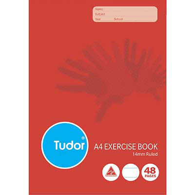 Image For Tudor E144 Exercise Book 14mm Ruled 48 Page A4 From Prime Office Supplies