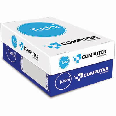 Image For Tudor Computer Listing Continuous Paper 60gsm 11 X 9 5 Inch 2000 Sheets From