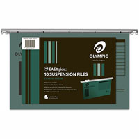 OLYMPIC 100% RECYCLED SUSPENSION FILE FOOLSCAP GREEN PACK 10