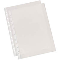 CUMBERLAND SHEET PROTECTOR PVC 200 MICRON EXTRA HEAVY DUTY GLASS A3 CLEAR PACK 25