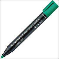 STAEDTLER 352 LUMOCOLOR PERMANENT MARKER BULLET POINT 2.0MM GREEN