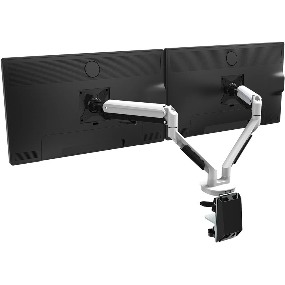 Image for CUTLASS DOUBLE MONITOR ARM WHITE from Office Express