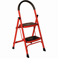 BRADY 2 STEP LADDER 120KG RED