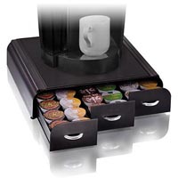 ESSELTE ANCHOR COFFEE POD ORGANISER 3 DRAWER 36 CAPACITY BLACK