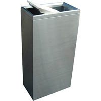 COMPASS STAINLESS STEEL RECTANGULAR SWING BIN 40L